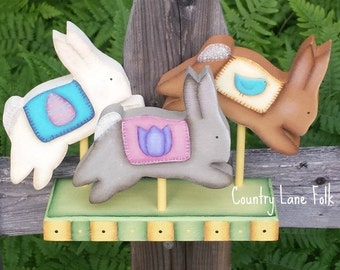 Easter Bunny, Spring, Easter decoration, wooden bunny rabbit ,wooden easter rabbit, Prim rabbit, Easter decor, pastel Easter,  wooden rabbit