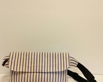 Stripe canvas fanny pack