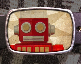 Robot Belt Buckle, Vintage Inspired 579