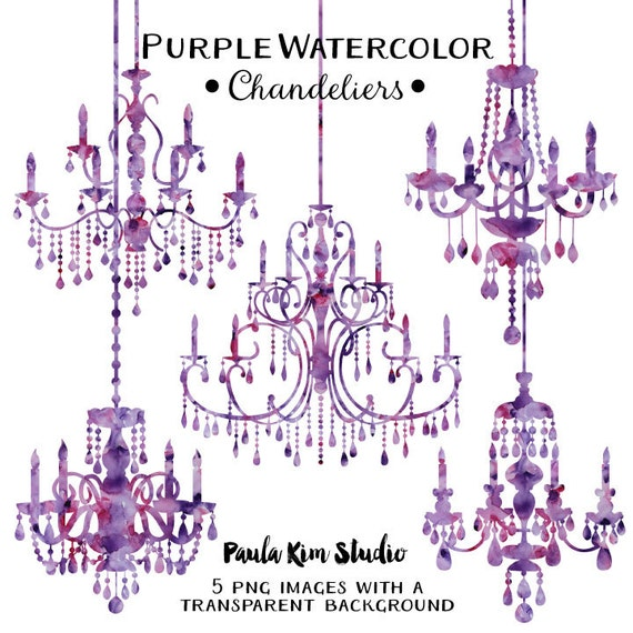 Purple chandelier watercolor clipart silhouettes chandelier purple chandelier watercolor clipart silhouettes chandelier clip art wedding invitation clipart commercial use purple mozeypictures Images