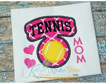 Tennis Mom - Block Arc Applique