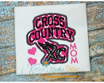 Cross Country Mom - Block Arc Applique