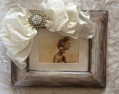 Beach Wedding Frame Rustic Sandwash Bow Boho Jewel Pearl Diamond Bling Personalize