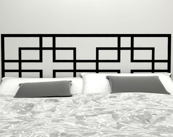 Overlapping Squares - Geometric Headboard Decal  | Vinyl wall sticker decal | Asian Influence Geometric Pattern | FREE SHIPPING