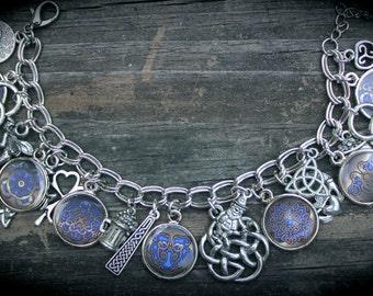 Celtic Charm Bracelet - Irish Mythology - Celtic Folklore - Legends - Magick - Fairy Tales - Themed Jewelry - Custom Charm Bracelet
