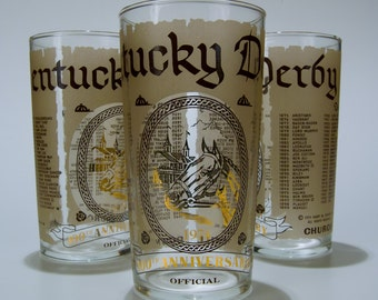 1974 Vintage Kentucky Derby Mint Julep Glass
