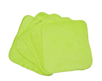 Baby Washcloths Light Green 10 Pack