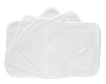 Baby Washcloths White 10 Pack