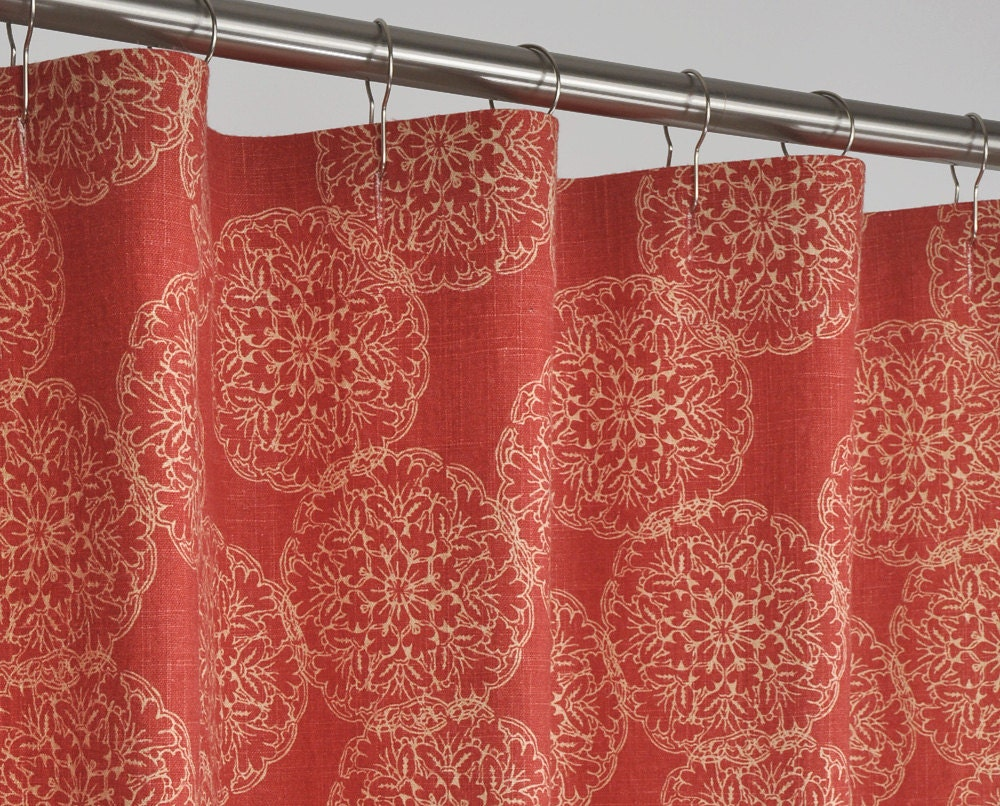 78 Long Rust Shower Curtain 72 X 78 Long Red Rust By Pondlilly