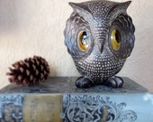 Freeman & McFarlin Pottery Owl  1970s Iconic Big Eyed