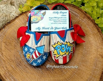 Fourth of July toddler shoes