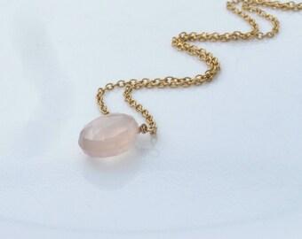 Pink Briolette Necklace