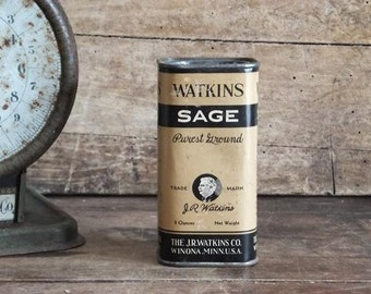 Vintage Watkins Spice Tin Sage