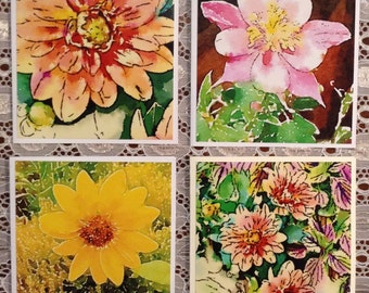 Watercolor Photo Notecards-Set of 4