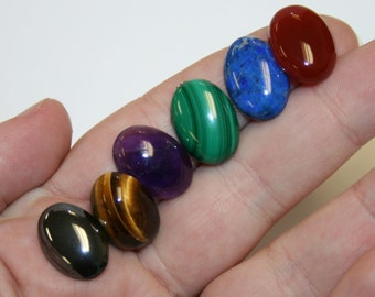 Natural Gemstone 18  x 13 Gemsetter's Cabochon Collection