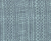 Blue Linear Print Cotton Fabric Navy and Aqua Line Stripes 100% Sewing Cotton Woven Fabric by the Yard