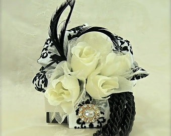 Favor Box Jewelry Gift Box Black and White Wedding Favor Box Wedding Gift Box Mothers Day,  Bridesmaids, Handmade, Decorative Boxes