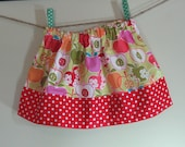 Girls Skirt Twirl Skirt Apples red green orange pink Red Polka Dot Skirt Ready to Ship!