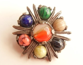 Vintage Miracle Scottish Brooch Signed
