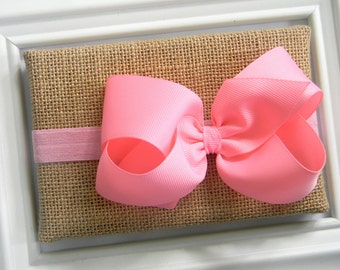 Pink Bow Headband - Pink Boutique Bow Headband