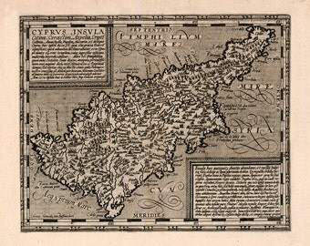 1600 Map of Cyprus