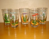 Original Blakely Oil Arizona Cactus Clear Drinking Glasses