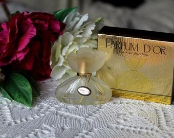 Vintage Perfume D'or by Kristel Saint Martin 30 ml Eau de Parfum Spray Collectible Bottle (original bottle and box)