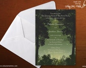 Enchanted Daytime Forest Wedding Invitation - Bridal Shower, Birthday, Baby Shower, Quince, Sweet 16 - Evening, Fireflies - Digital File