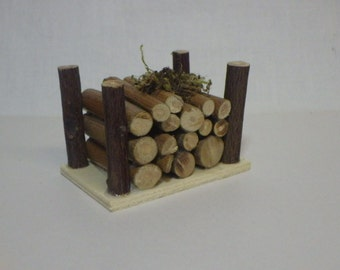 Firewood Bin for Fairy Garden or Dollhouse