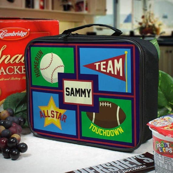 Personalized Sports Lunch Tote - U675860