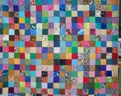 Patchwork Queen Quilt, Queen Quilt, Handmade Queen Quilt, Bed quilt, Queen Bedding, Queen Blanket, Custom Patchwork Quilt, Bed Quilts 1