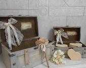 Wedding Card box /  Wedding Wishes Box / Rustic Wedding Card Box / Cards and Wishes Box / Advice Box / Wedding Decorations Wish Hearts