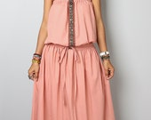 Sleeveless Dress / Romantic Nude Maxi Dress  : Cheer me Up collection