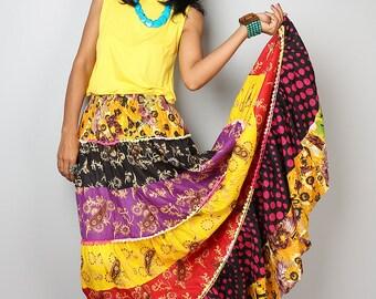 Patchwork Skirt / Maxi skirt : Boho Patchwork Collection No.1