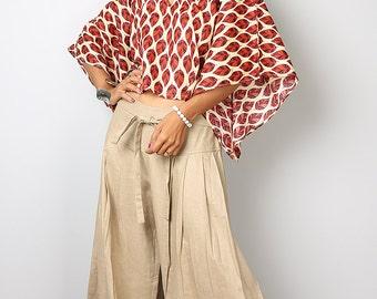Wide Leg Pants / Linen Pants / Cotton Pants Casual Wear :  Soul of the Orient Collection