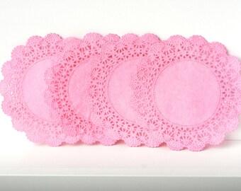 Bubble Gum Lace Paper Doilies Cambridge style | DIY Wedding Hand dyed Pastel color paper doilies, doily,  Wholesale Quinceanera party