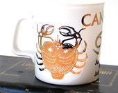 Cancer Coffee Mug June 22nd-July 22nd Kiln Craft England Zodiac