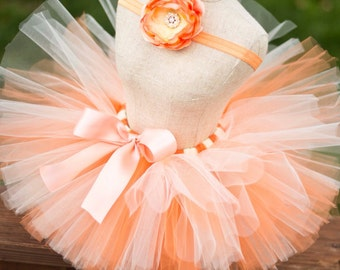Orange Cream Dream  Tutu Set Includes Headband
