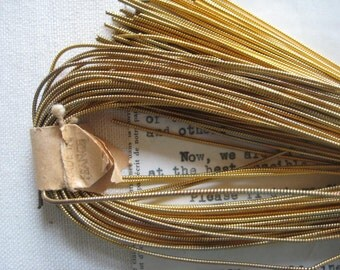 AUTHENTIC FRENCH Vintage Gold Metal Thread Pearl Purl Jaceron Embroidery Stitching