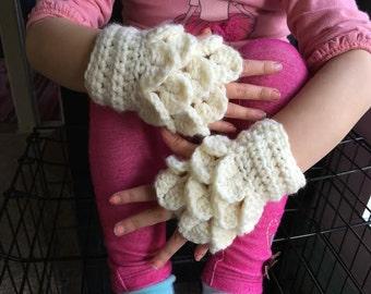 Kids Crocodile-Stitch Gloves