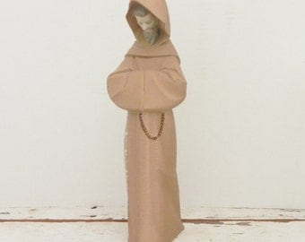 Lladro Figurine - Franciscan Monk - Rare Retired Lladro