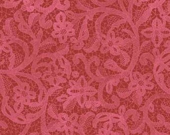 Bohemian Rose - Red Lace from Red Rooster Fabrics