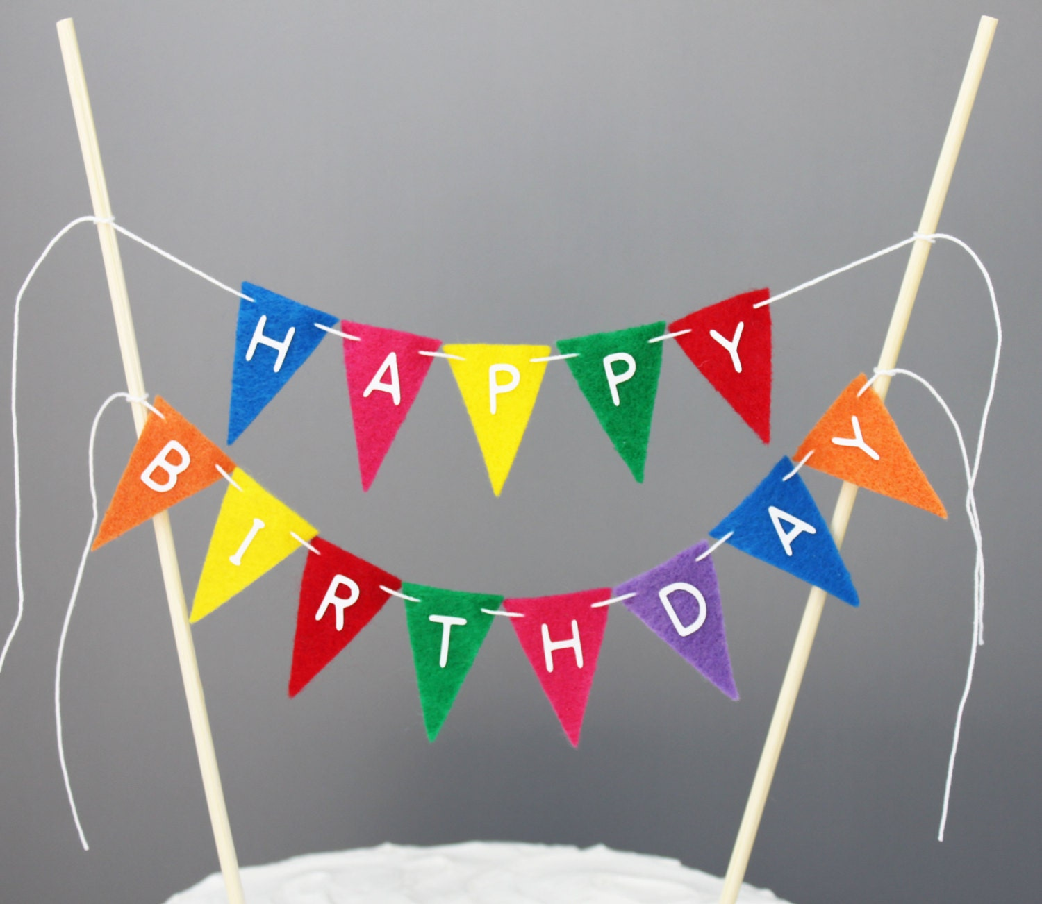 cake bunting etsy on cake happy birthday banner