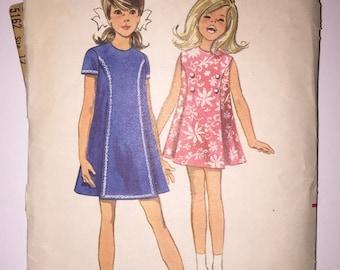 50% OFF COUPON CODE Vintage Butterick Pattern 5162 - Girls' Dress Size 12