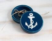 Navy Blue Ring Bearer Box Nautical Wedding Ring Box Ring Holder, Anchor Ring Box, Navy Wedding, Marine Wedding Еngagement box