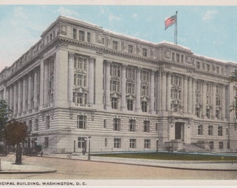 Municipal Building, Washington D.C.  - Vintage Postcard - Unused (AAA)