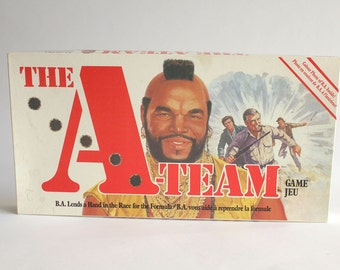 The A Team Board Game - 1984 Parker Brothers - Mr. T as BA Baracus Lends A Hand