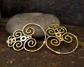 Nazca Brass Earrings