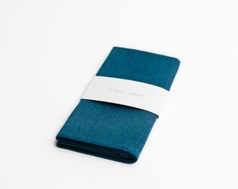 Dark teal pocket square, dark teal - MADE TO ORDER