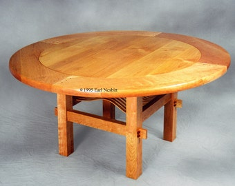 Round Dining Table, cherry and alder